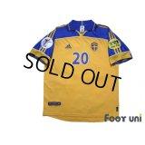 Sweden Euro 2000 Home Shirt #20 Henrik Larsson UEFA Euro 2000 Patch/Badge Fair Play Patch/Badge