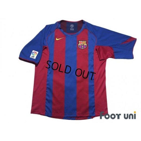 Photo1: FC Barcelona 2004-2005 Home Shirt #10 Ronaldinho LFP Patch/Badge