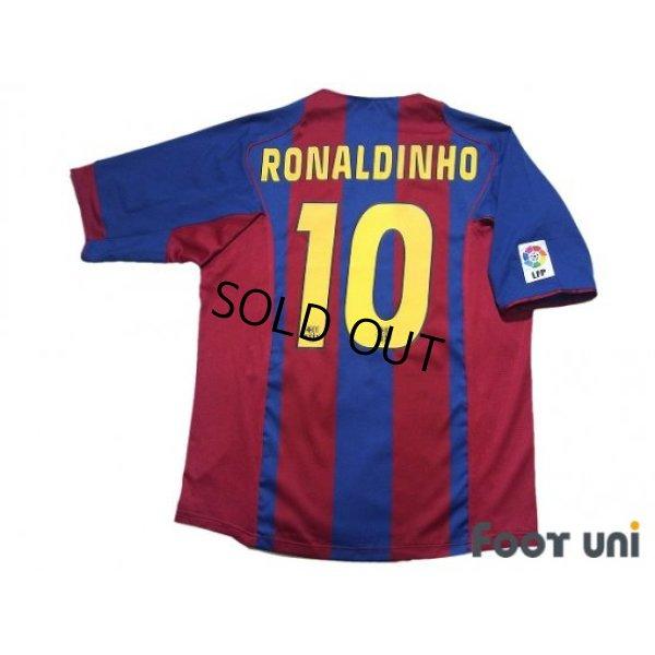 Photo2: FC Barcelona 2004-2005 Home Shirt #10 Ronaldinho LFP Patch/Badge