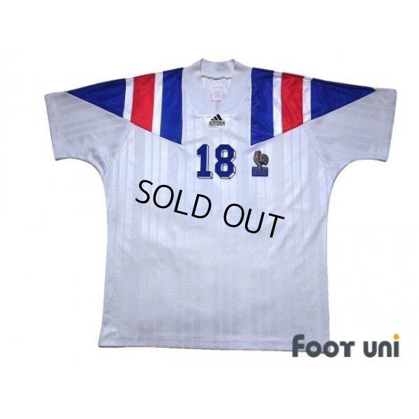 Photo1: France 1992 Away Shirt #18 Eric Cantona