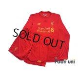 Liverpool 2016-2017 Home Long Sleeve Shirt and Shorts Set