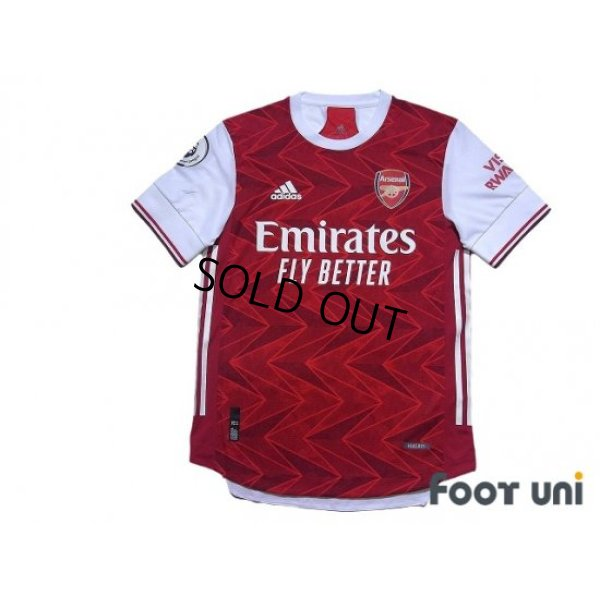 Photo1: Arsenal 2020-2021 Home Authentic Shirt #23 David Luiz Premier League Patch/Badge