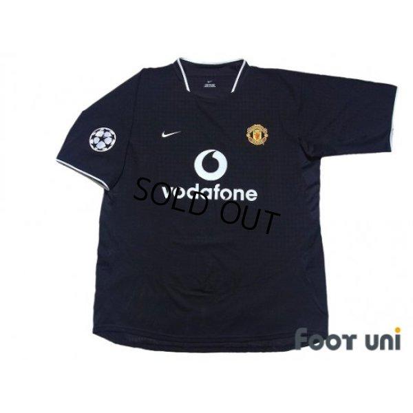 Photo1: Manchester United 2003-2005 Away Shirt #18 Scholes Champions League Patch/Badge