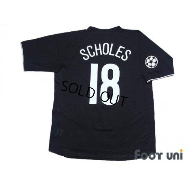 Photo2: Manchester United 2003-2005 Away Shirt #18 Scholes Champions League Patch/Badge