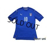Italy 2016 Home Authentic Shirt #10 Marco Verratti