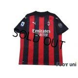 AC Milan 2020-2021 Home Shirt #11 Ibrahimovic Serie A Tim Patch/Badge w/tags
