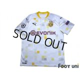 Borussia Dortmund 2020-2021 Away Shirt #9 Haaland Champions League Patch/Badge w/tags