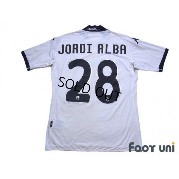 Photo2: Valencia 2009-2010 Home Shirt #28 Jordi Alba