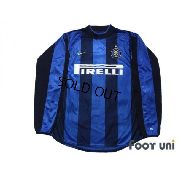 Photo1: Inter Milan 2000-2001 Home Long Sleeve Shirt #9 Ronaldo