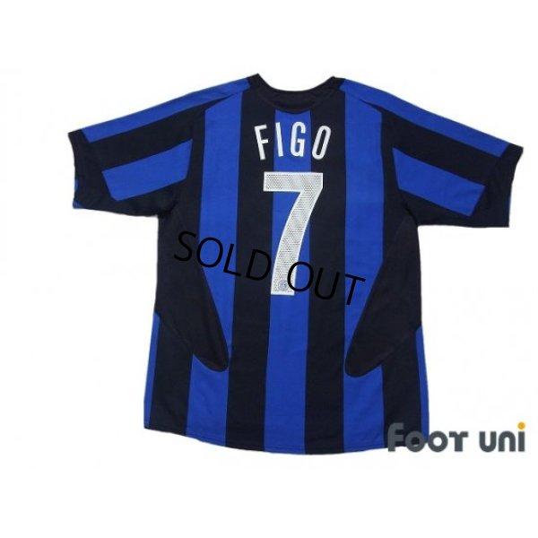 Photo2: Inter Milan 2005-2006 Home Shirt #7 Figo