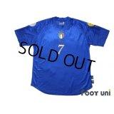 Italy Euro 2004 Home Shirt #7 Del Piero UEFA Euro 2004 Patch/Badge UEFA Fair Play Patch/Badge
