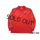 Belgium 1986 Home Long Sleeve Shirt #5