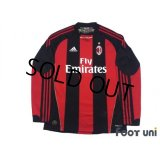AC Milan 2010-2011 Home Long Sleeve Shirt