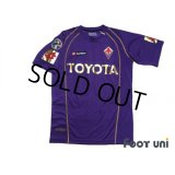 Fiorentina 2006-2007 Home Shirt #30 Luca Toni 80th anniversary model Lega Calcio Patch/Badge