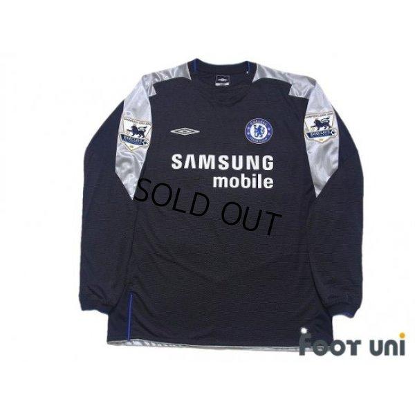 Photo1: Chelsea 2005-2006 3rd Long Sleeve Shirt #22 Guojohnsen Champions 2004-2005 BARCLAYS PREMIERSHIP Patch/Badge