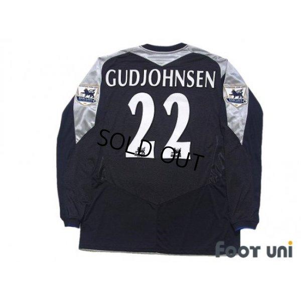 Photo2: Chelsea 2005-2006 3rd Long Sleeve Shirt #22 Guojohnsen Champions 2004-2005 BARCLAYS PREMIERSHIP Patch/Badge