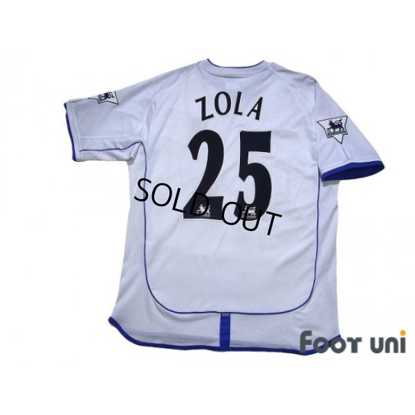 Photo2: Chelsea 2001-2003 Away Shirt #25 Zola The F.A. Premier League Patch/Badge w/tags