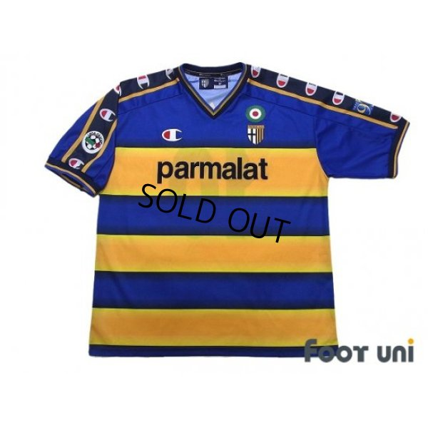Photo1: Parma 2002-2003 Home Shirt #10 Hidetoshi Nakata Lega Calcio Patch/Badge