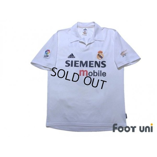 Photo1: Real Madrid 2002-2003 Home Shirt #5 Zidane Centenario Patch/Badge LFP Patch/Badge