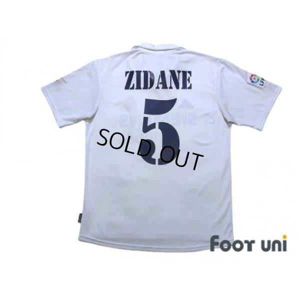 Photo2: Real Madrid 2002-2003 Home Shirt #5 Zidane Centenario Patch/Badge LFP Patch/Badge