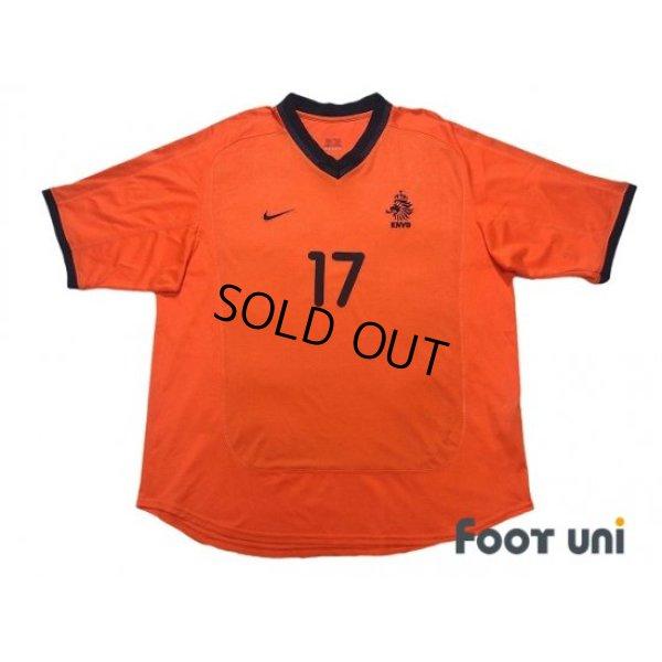 Photo1: Netherlands Euro 2000 Home Shirt #17 Van Hooijdonk