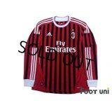 AC Milan 2011-2012 Home Long Sleeve Shirt