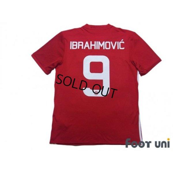 Photo2: Manchester United 2016-2017 Home Shirt #9 Zlatan Ibrahimović
