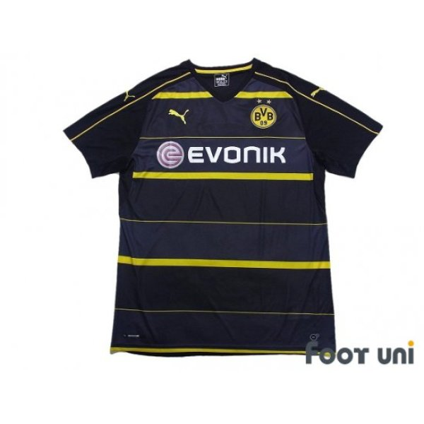 Photo1: Borussia Dortmund 2016-2017 Away Shirt #7 Ousmane Dembele