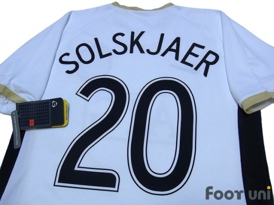 manchester united 2006 2007 away shirt 20 solskjaer online store from footuni japan manchester united 2006 2007 away shirt