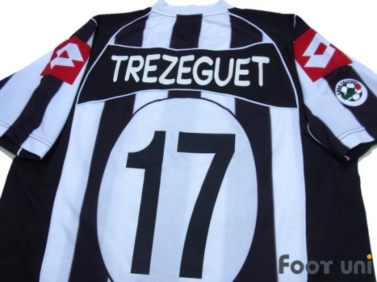 44006325418 Juventus 2002-2003 Home Shirt  17 Trezeguet Lega Calcio Patch   JUV23H1717307