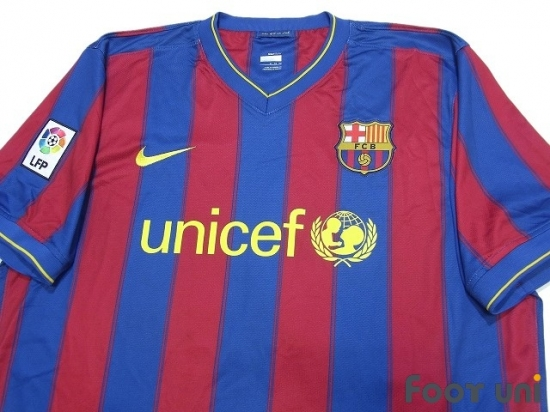 sports shoes 525f2 0acad FC Barcelona 2009-2010 Home Shirt #9 Ibrahimovic LFP Patch ...