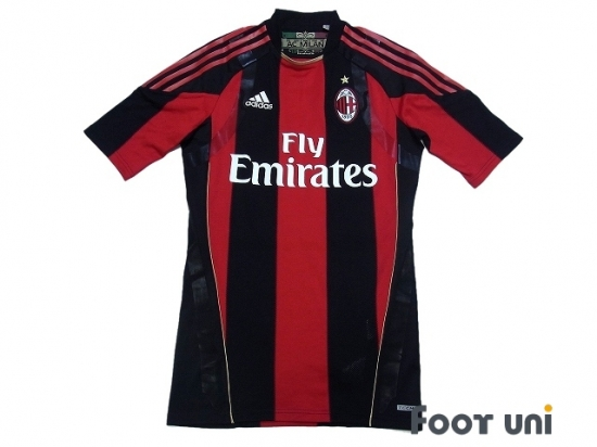 release date: b3cba b8475 AC Milan 2010-2011 Home Authentic Techfit Shirt #9 Inzaghi ...