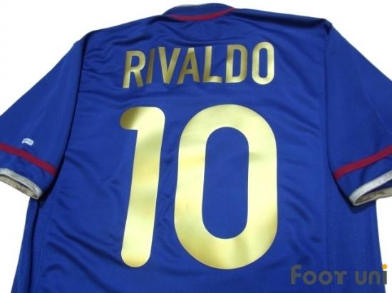finest selection ad76d c686d Barcelona 2001-2002 3RD Shirt #10 Rivaldo nike La Liga ...