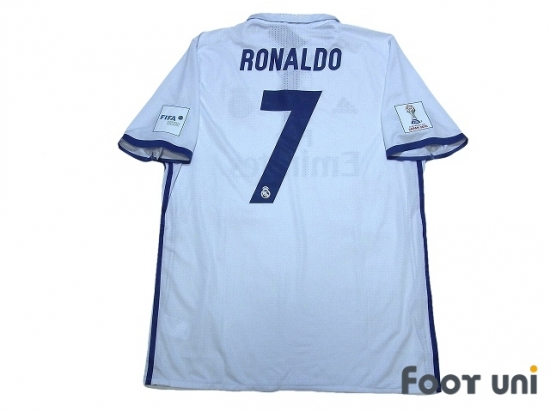 2c7a40fb7e6 Real Madrid 2016-2017 Home Authentic Shirt #7 Ronaldo FIFA Club World Cup  Japan 2016 Patch/Badge w/tags [RMD67H07175082]