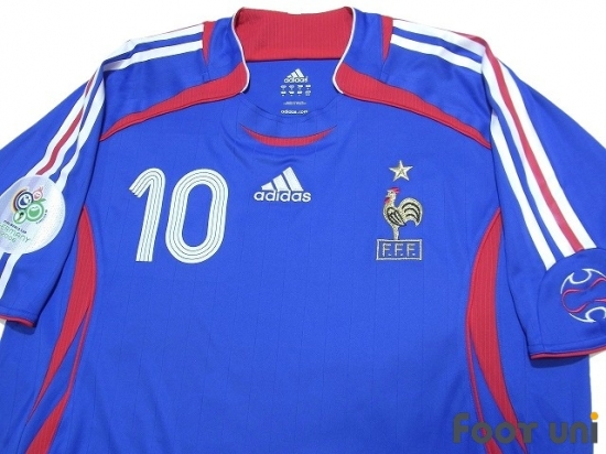 check out 939ba cc471 France 2006 Home Authentic Shirt #10 Zidane - Online Store ...