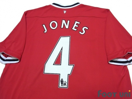 best service 624d6 e9e8e Manchester United 2011-2012 Home Shirt #4 Jones