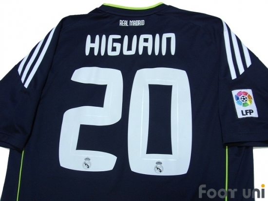 best sneakers 5b6d7 18c7d Real Madrid 2010-2011 Away Shirt #20 Higuain LFP Patch/Badge ...
