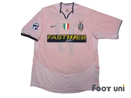 108e7dbcf21 Juventus 2003-2004 Away Shirt  17 Trezeguet Lega Calcio Patch Badge   JUV34A1717310