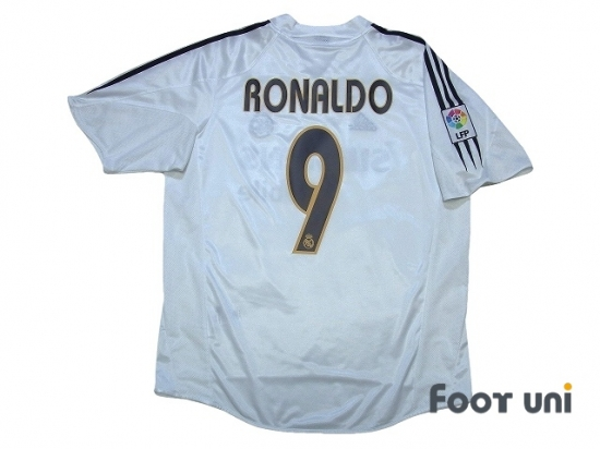 the best attitude e50d2 ced9b Real Madrid 2004-2005 Home Shirt/Jersey #9 Ronaldo LFP Patch ...