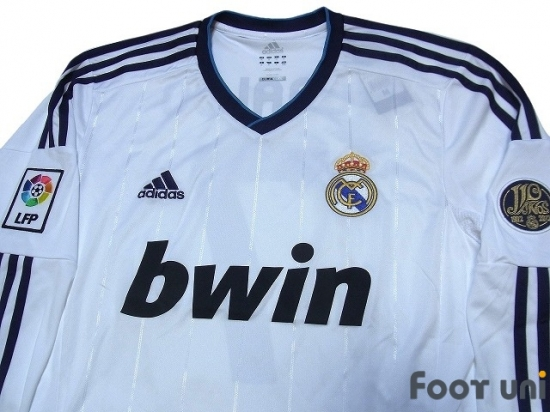 new concept e8c0c 5be03 Real Madrid 2012-2013 Home L/S Jersey #7 Ronaldo adidas La ...