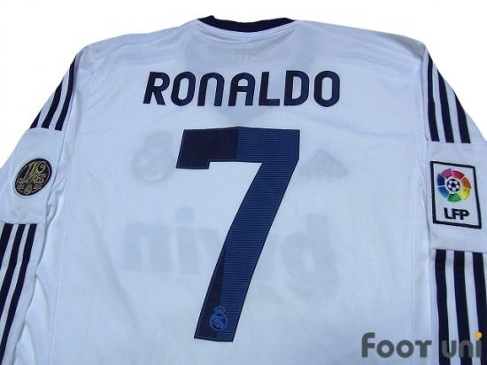 new concept d4f01 08a35 Real Madrid 2012-2013 Home L/S Jersey #7 Ronaldo adidas La ...