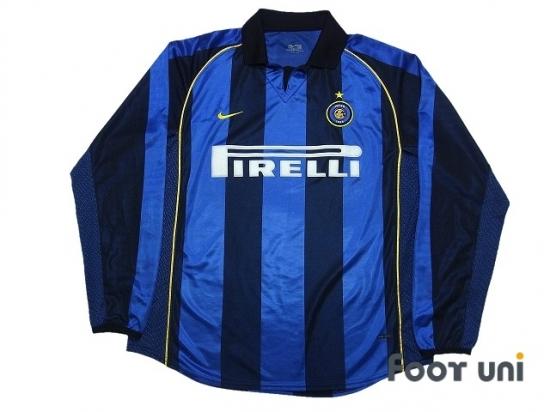 best authentic 87446 91740 Internazionale 2001-2002 Home Long Sleeve Shirt #9 Ronaldo ...