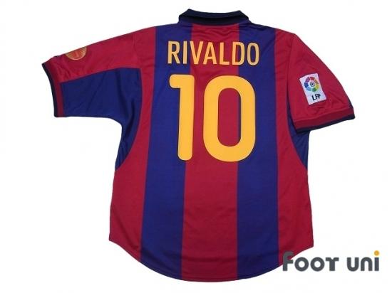 reputable site 481c4 71f6d FC Barcelona 2000-2001 Home Shirt #10 Rivaldo - Online Store ...