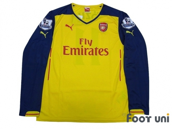 check out 2af1c 8af15 Arsenal 2014-2015 Away Long Sleeve Shirt #11 Ozil w/tags BARCLAYS PREMIER  LEAGUE Patch/Badge