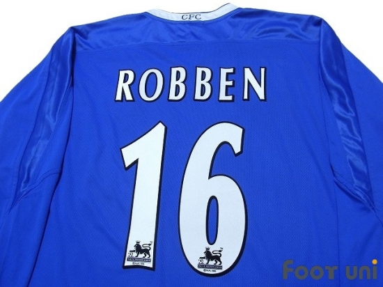 classic fit 95ae0 c7c67 Chelsea 2003-2005 Home Long Sleeve Shirt #16 Robben - Online ...