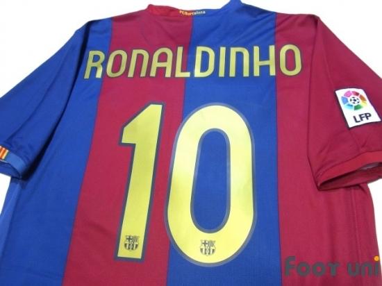 ebcf7b997 ... Away Shirt - Online Store From Footuni Japan. FC Barcelona 2006-2007  Home Shirt  10 Ronaldinho LFP Patch Badge  BCN67H1018503