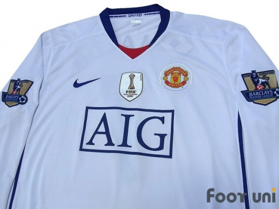innovative design 0a2c3 296f2 Manchester United 2008-2009 Away Long Sleeve Shirt #7 ...