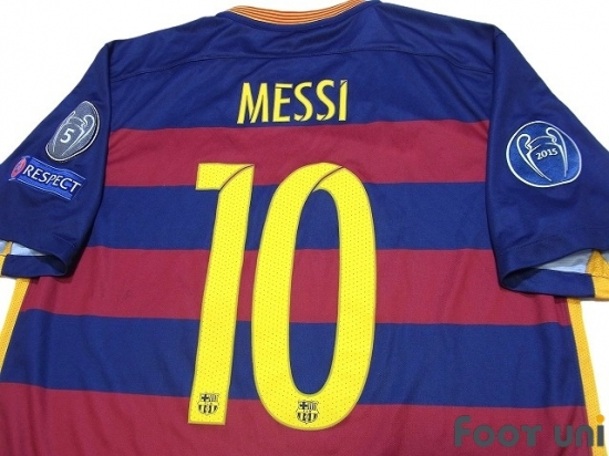 FC Barcelona 2015-2016 Home Shirt #10 Messi - Online Store