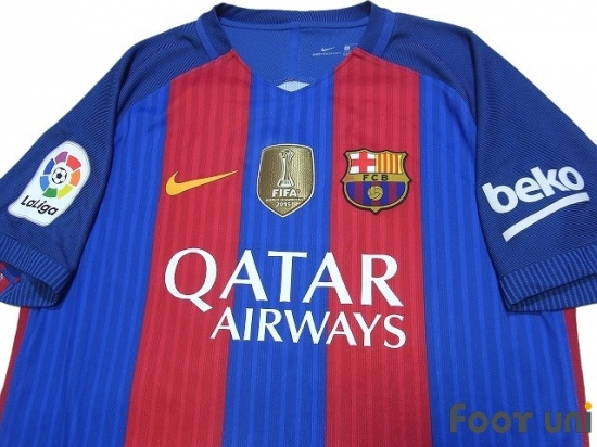 new arrivals a53de a9a2c FC Barcelona 2016-2017 Home Authentic Shirt and Shorts Set ...