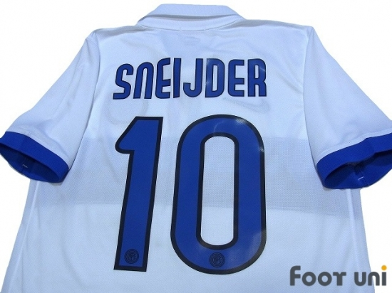 finest selection 96520 93281 Inter Milan 2009-2010 Away Shirt #10 Sneijder - Online Store ...